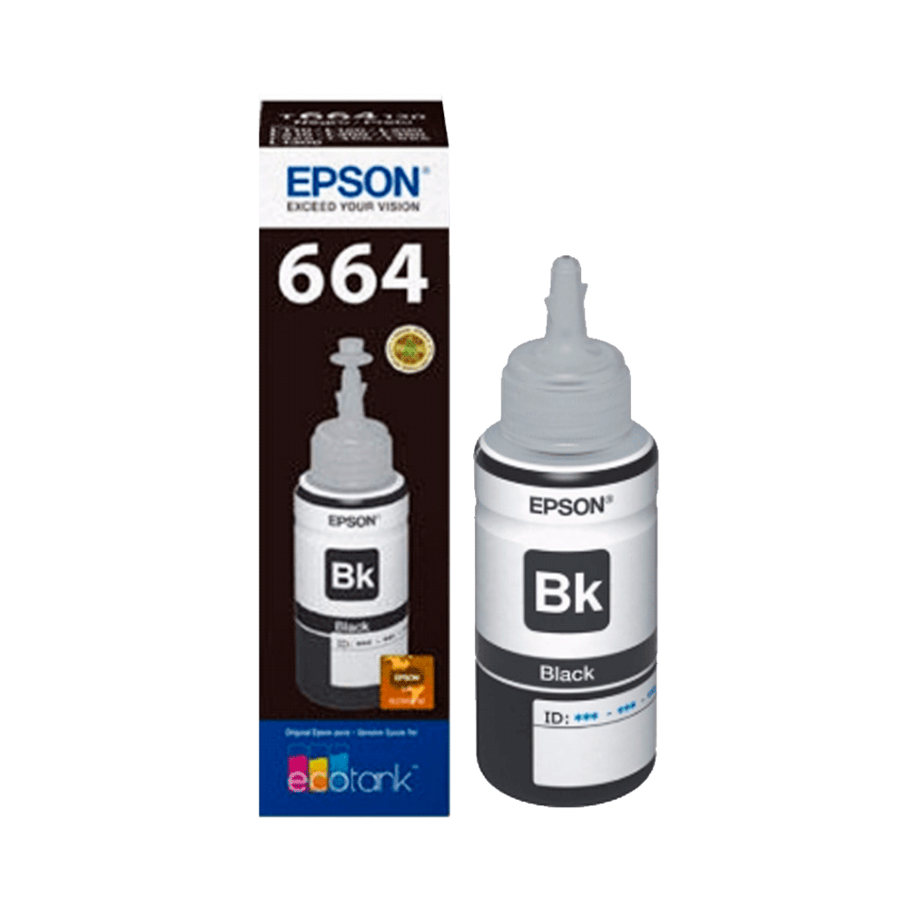 TINTA EPSON T664 120 NEGRO L1XX/L2XX/L3XX/L5XX 70 ML