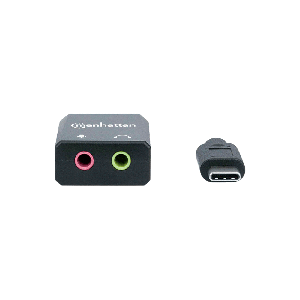 ADAPAPTADOR DE FONE+MIC/USB-C 153317 2.1/3.5MM/NEGRO