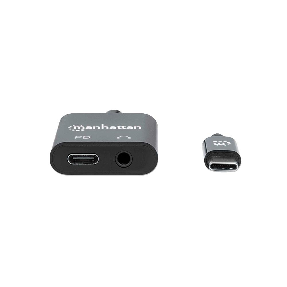 ADAPTADOR FONE+USB-C H/USB-C M 153355 3.5MM/NEGRO