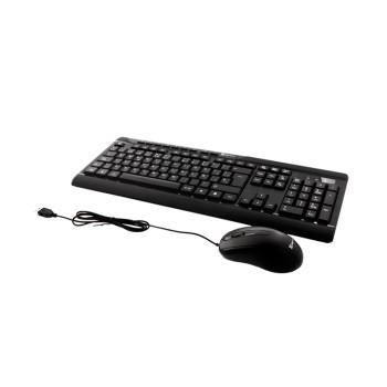 TECLADO CON MOUSE KLIP USB KCK-251S ESP/ NEGRO
