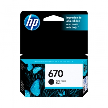 TINTA HP 670 NEGRO CZ113AL 7,5ML