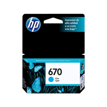 TINTA HP 670 CYAN CZ114AL3,5ML