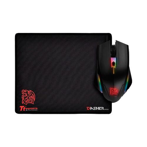 MOUSE + PAD GAMER THERMALTAKE USB TALON ELITE PRO RGB 5000DPI MO-TER-WDOTBK-0