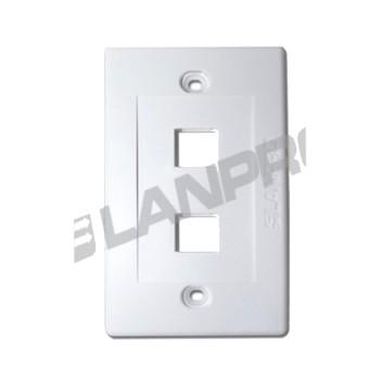 NETWORKING LANP TAPA PLAST.DE 02 PUERTOS LP-3317V2
