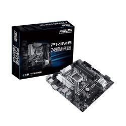 PLACA MADRE ASUS 1200 PRIME Z490M-PLUS S/R/HDMI/DP/DVI/2M2/DDR4/USB3.2/ATX