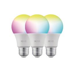 FOCO NEXXT IOT WIFI NHB-C120 3PK PACK3 220V 9W LUZ MULTICOLOR RGB