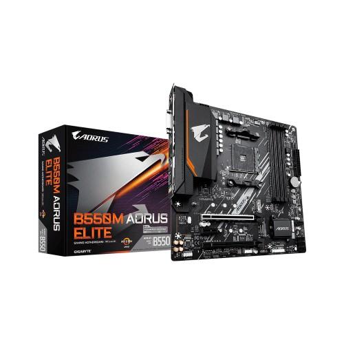 PLACA MADRE GIGABYTE AM4 B550M AORUS ELITE S/R/HDMI/DVI/2M2/DDR4/USB3.2/MATX