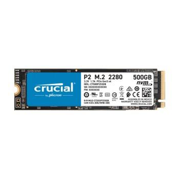 SSD M.2 PCIE NVME 500GB CRUCIAL P2 2280 3D CT500P2