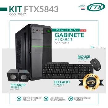GABINETE KIT FTX5843 500W+ MOUSE+ TECLADO MULTIMED