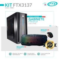 GABINETE KIT GAMER FTX3137 600W+ MOUSE+ TECLADO/LATERAL TRASPARENTE/LED RGB FRONTAL/ESPAÑO
