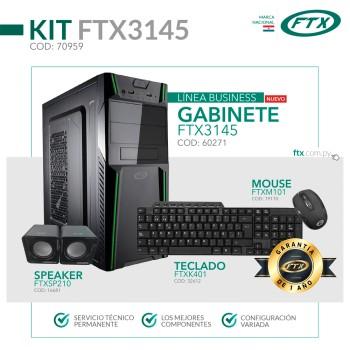 GABINETE KIT FTX3145 500W+MOUSE+TECLADO MULTIMEDIA