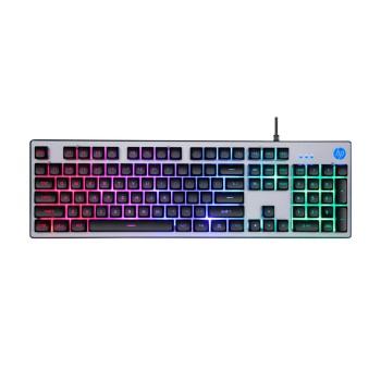 TECLADO GAMER USB HP K500F ILUMINACION RGB / ESPA�