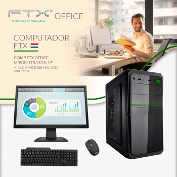 COMPUTADORA FTX OFFICE I3/8GB/1TB+MONITOR 19