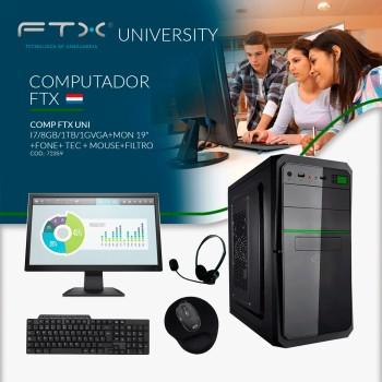 COMPUTADORA FTX UNIVERSITY I7/8GB/1TB/1G VGA+MON 1