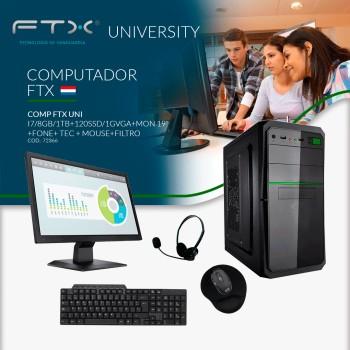 COMPUTADORA FTX UNI I7/8GB/1TB+120SSD/1G VGA+MON 1