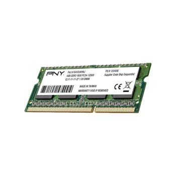 MEMORIA RAM P/NB DDR3 4GB 1600 PNY MN4GSD31600BL