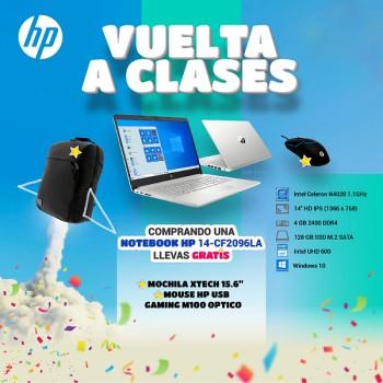 NOTEBOOK CELERON 1.1/4GB/128SSD 14-CF2096LA HP + M