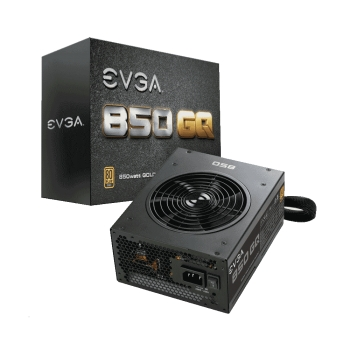 FUENTE EVGA 850W GQ 80PLUS GOLD 210-GQ-0850-V1